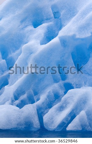 Detail of iceberg in Napassorsuaq Fjord, Greenland