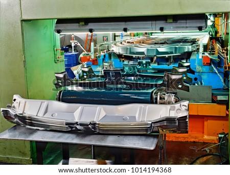 Detail of Industrial press for sheet metal stamping #1014194368
