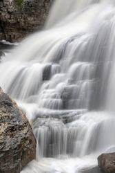 Detail of Inglis Falls In Owen Sound, Ontario Canada.