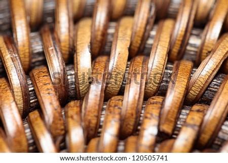 Detail of interlaced rattan fibers in macro #120505741