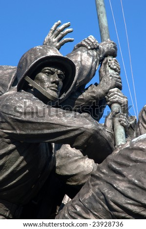 Detail of Iwo Jima Memorial Statue near Washington DC
