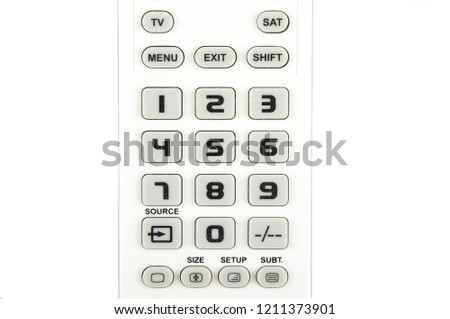Detail of keypad on white background #1211373901