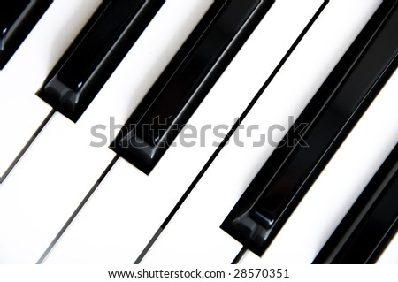 detail of keys on a piano ready for music concert