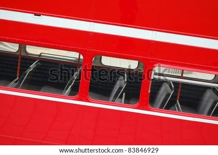 Detail of London Bus Window.