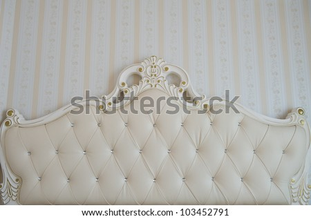 Detail of luxury bed. Interior - stock photo