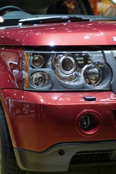 Detail of luxury SUV