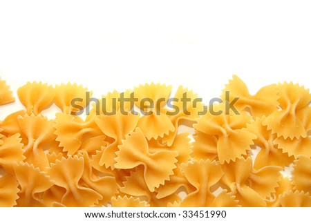 Detail of Macaroni pasta useful as a background - stock photo