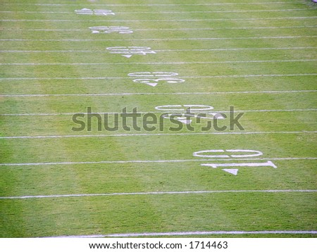 Detail of markings of the football field