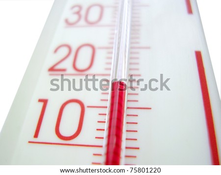 Detail of mercury thermometer