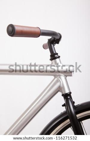Detail of modern bike with steer