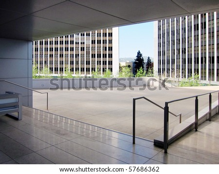 detail of modern buildings exterior - stock photo