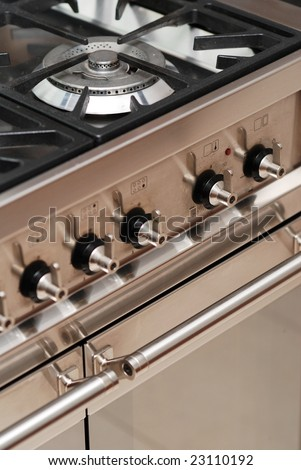 Detail of modern cooker with oven