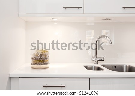 detail of modern kitchen interior