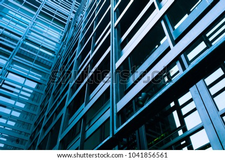 detail of modern office building exterior #1041856561