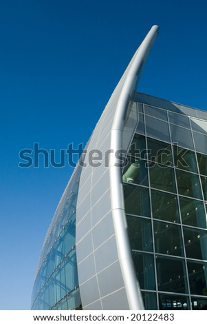 detail of modern shopping mall; in Madrid Spain