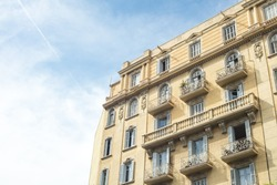 Detail of modernist residential building in Born, Barcelona, Spain.