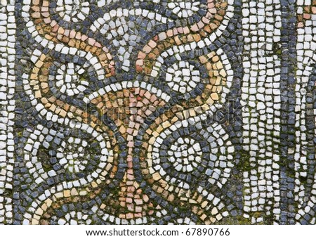 detail of mosaic, Afrodisias