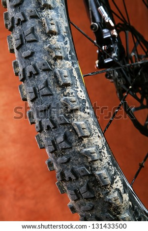 Detail of mountain bike