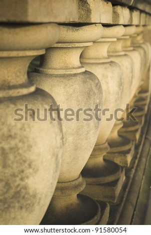 Detail Of Neo Classical Stone Pillars Of The Walker Art Gallery Liverpool.