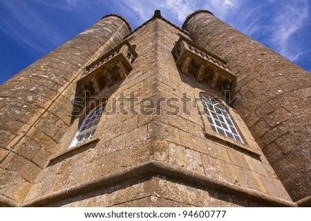 Detail of old Broadway Tower in England