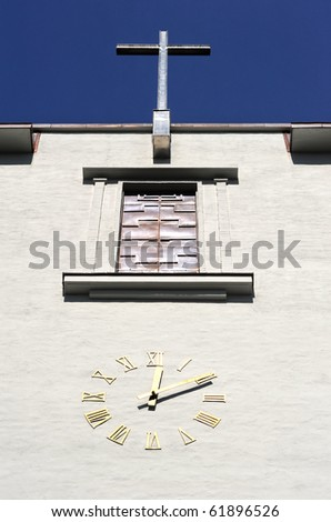 Detail of old  church clock  in Oslo, Norway
