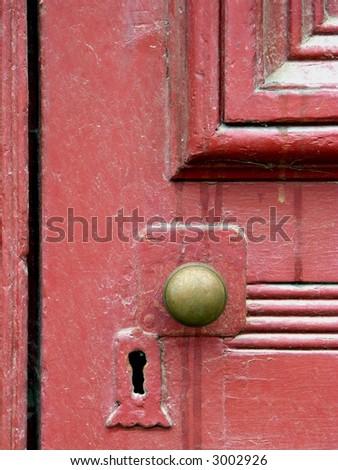 Detail of Old Weathered Door