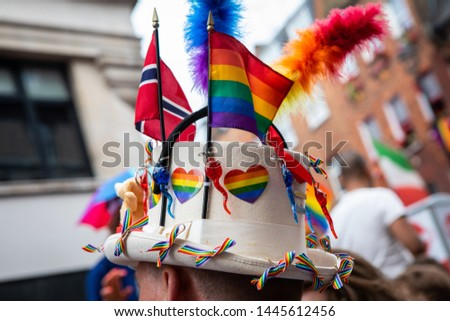 Detail of People at the London Pride Parade 2019
