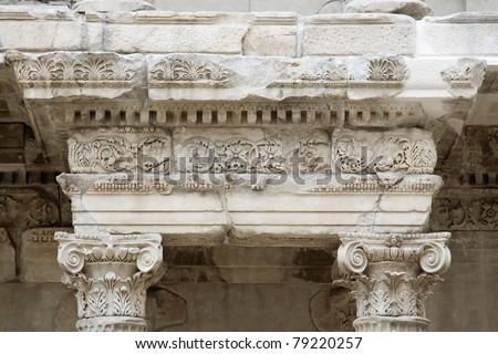 Detail of pergamon facade in pergamon museum in berlin - stock photo