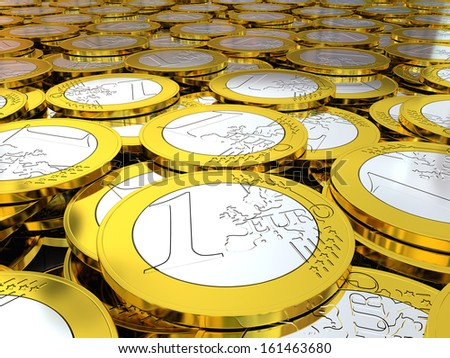 Detail of pile of Euro coins, concept of wealth, rich and treasure