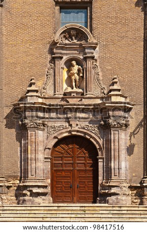 Detail of Portal of Church in Spain