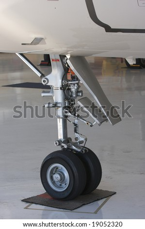 Detail of Private Jet Landing Gear
