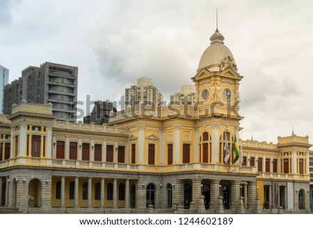 Detail of railway station in a cloudy day in Belo Horizonte - Brazil #1244602189