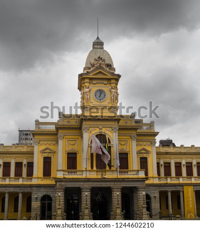 Detail of railway station in a cloudy day in Belo Horizonte - Brazil #1244602210