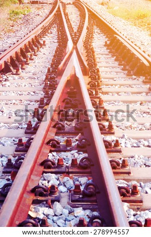 Detail of railway with soft light and soft focus style #278994557