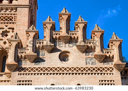 Detail of Roof on train station in Toledo, Spain