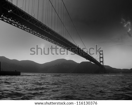 Detail of San Francisco in California, U.S.A.