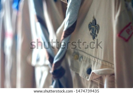 Detail of scout costume.  Scout lily.  It is a Czech scout costume. Stock photo ©
