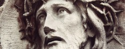 detail of sculpture of Jesus Christ