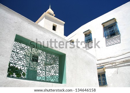 Detail of Sousse street in Tunisia
