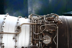 detail of soviet spacecraft engine as nice background