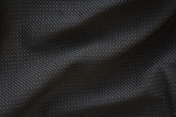 Detail of sportswear, texture of modern breathable fabric