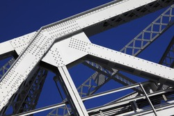 Detail of steel girders and rivets.