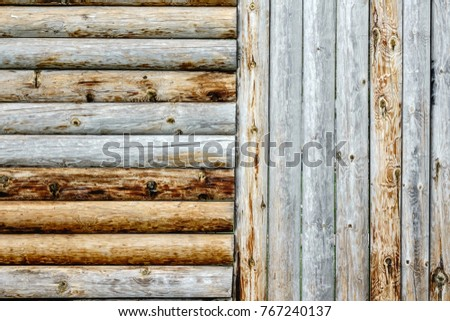 detail of stockade at historic...