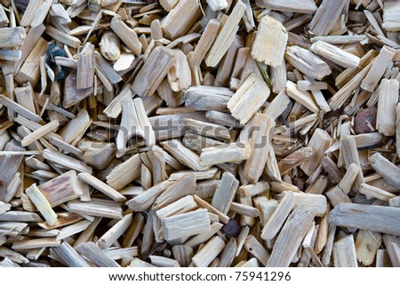 Detail of surface of wooden chips