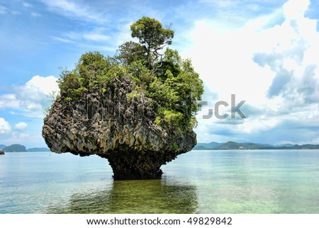 Detail Of Thailand Island In The Phuket Province, Summer Stock ...