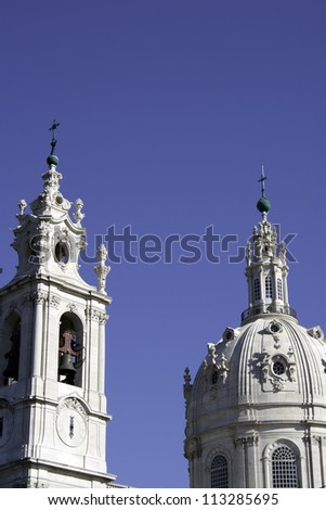 Detail of the Basilica at Lisbon, Portugal