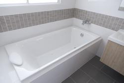 Detail of the bath tub in bathroom