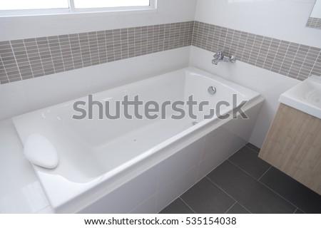 Detail of the bath tub in bathroom Stock photo ©