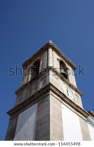 Detail of the bell tower of an old church