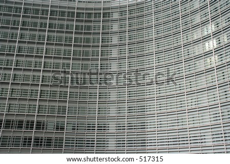 detail of the berlaymont building in Brussels. This building houses the European commission.
